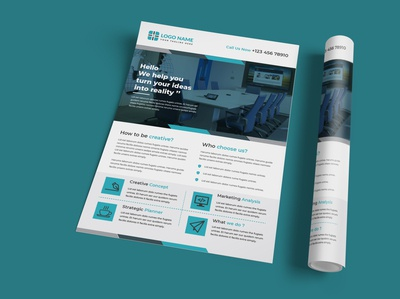Corporate Business Flyer Design Template AI
