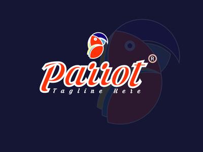 Parrot bird logo Design