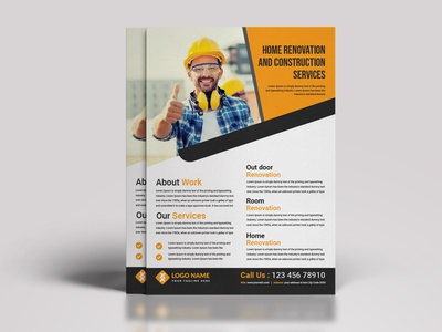 Free Construction Flyer Design Templates for A4 size