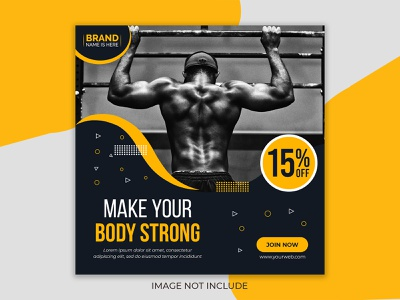 Fitness social media post template, instagram post Template PSD top 10 design pikbest business card fashion post logo ui ux 3d design social media post fitness post fitness banner fitness logo food flyer flyer design logo design best design