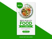Delicious food instagram stories Premium Psd