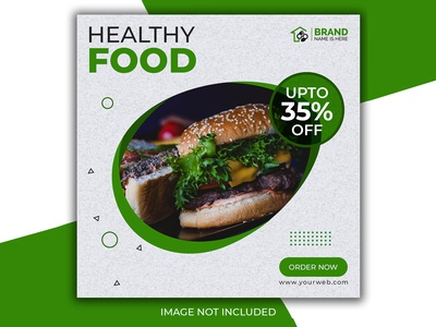 Healthy food post for social media Premium Psd