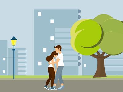 Confident couple illustrationcouple devotion