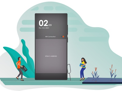 First time fixing an Android android mobile andr illustrator ui design flat illustration