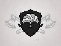 BIG League of Beards pixelated