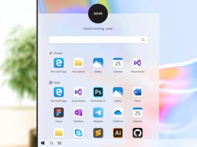 Windows 10 Start Menu Redesign