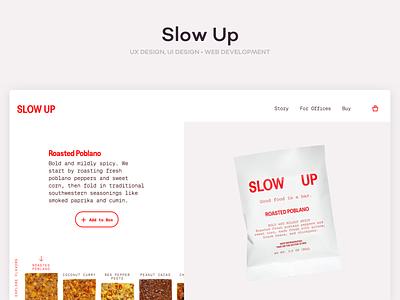 Slow Up ui design ux design ecommerce ui ux