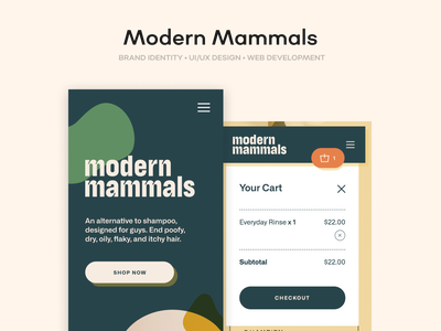 Modern Mammals illustration ecommerce shopify development development design shopify shopify design branding agency uiux ui branding