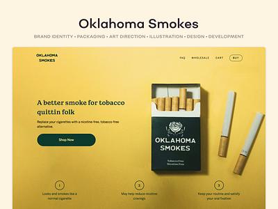 Oklahoma Smokes design ui ux shopify branding ecommerce