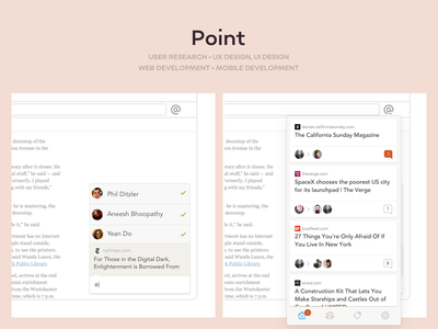 Point app ux ui app design