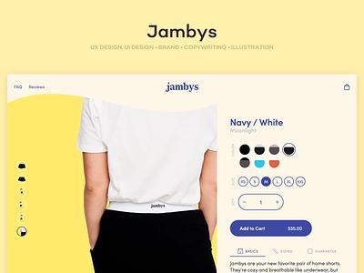 Jambys branding ecommerce ux ui