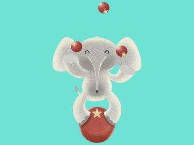 The amazing juggling elephant concept art affinityphoto digital illustration pencildog character design affinitydesigner affinity illustration character design