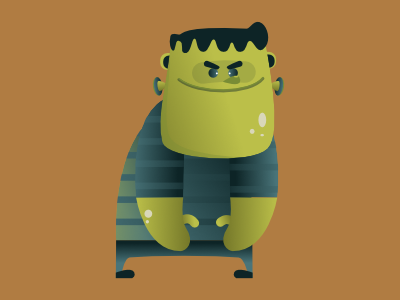 The famous failed experiment monster frankenstein halloween design concept art vector digital illustration pencildog design affinitydesigner affinity character design