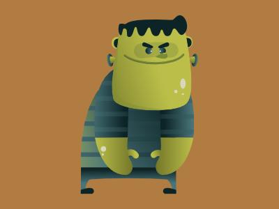 The famous failed experiment monster frankenstein halloween design concept art vector digital illustration pencildog design affinitydesigner affinity character design