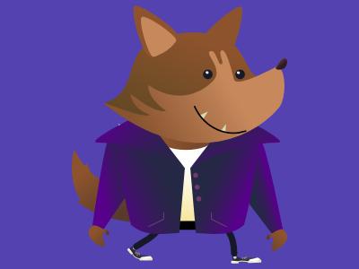 wewewolf dribble werewolf halloween design monster vector digital illustration character pencildog design illustration affinitydesigner affinity character design