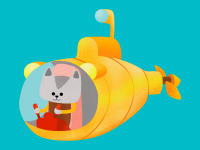 cat submarine dribble fantasy concept art digital illustration character pencildog illustration wacom intuos affinityphoto affinitydesigner affinity character design