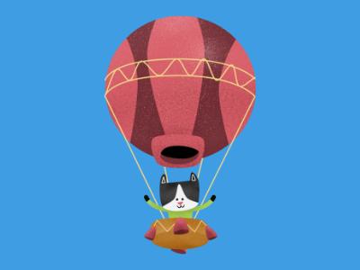 cat balloon dribble book children book illustration digital illustration character pencildog illustration affinityphoto affinitydesigner affinity character design