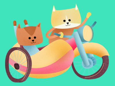 cat motorcycle dribble childrens illustration children book illustration storybook digital illustration character pencildog illustration affinityphoto affinitydesigner affinity character design