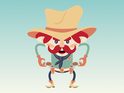 sheriff dribble cowboy boots cowboy hat cowboy old west wild west western sheriff vector design character pencildog illustration affinitydesigner affinity character design