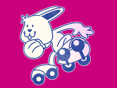 Skater rabbit bunny rabbit skater vector pencildog illustration affinity affinityphoto digital illustration character affinitydesigner character design