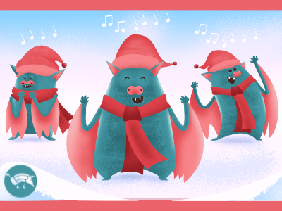 trio murci lagos dribble holidays bats fantasy digital illustration affinityphoto vector affinitydesigner affinity character illustration character design design pencildog