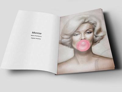 Monroe marilyn monroe illustration digital painting art