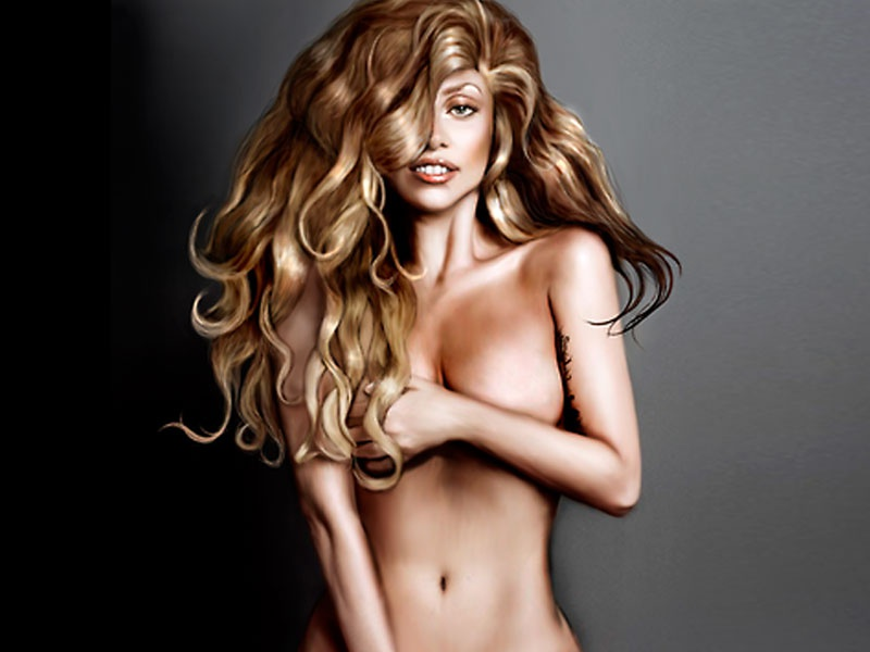 Lady gaga cries, covers nude body with moss in an artpop image
