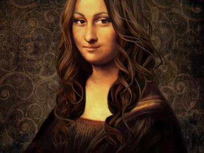 #modern Mona Lisa mona lisa illustration art modern hair