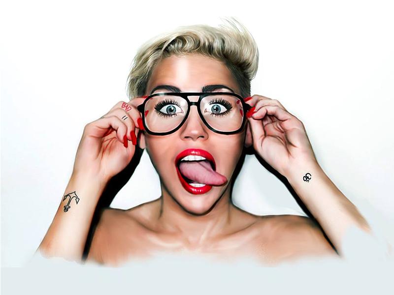 #DoWhatYouWant miley cyrus illustration photoshop draw lips blonde glasses tongue