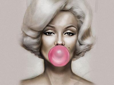 Monroe monroe lisa illustration art gum hair