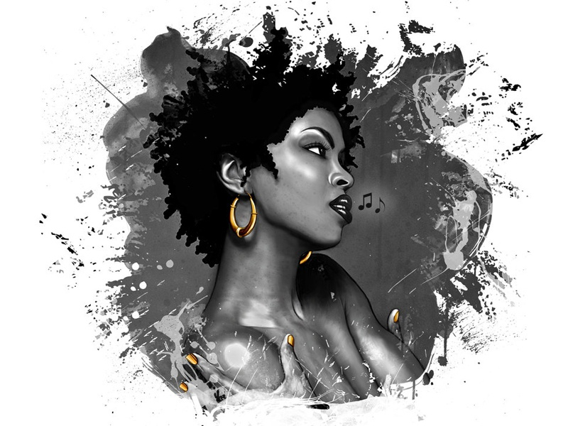 Killing Me Softly woman illustration lauryn hill singer