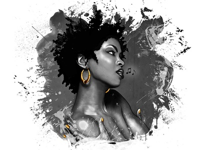 Killing Me Softly woman illustration lauryn hill singer