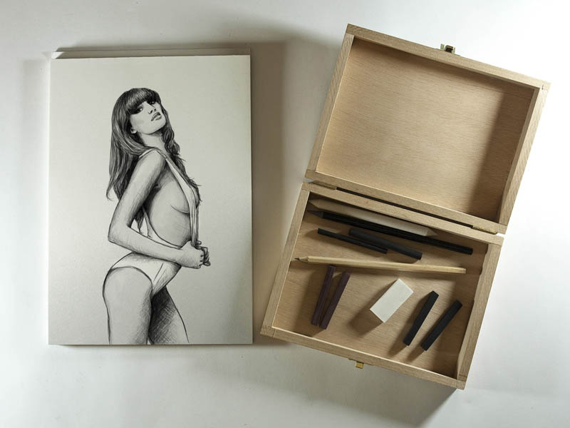 Girl artwork girl pencil illustration drawing artwork ink