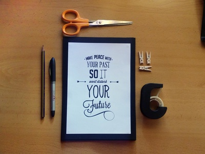 Inspirational Lettering lettering typography ink pen inspirational quote