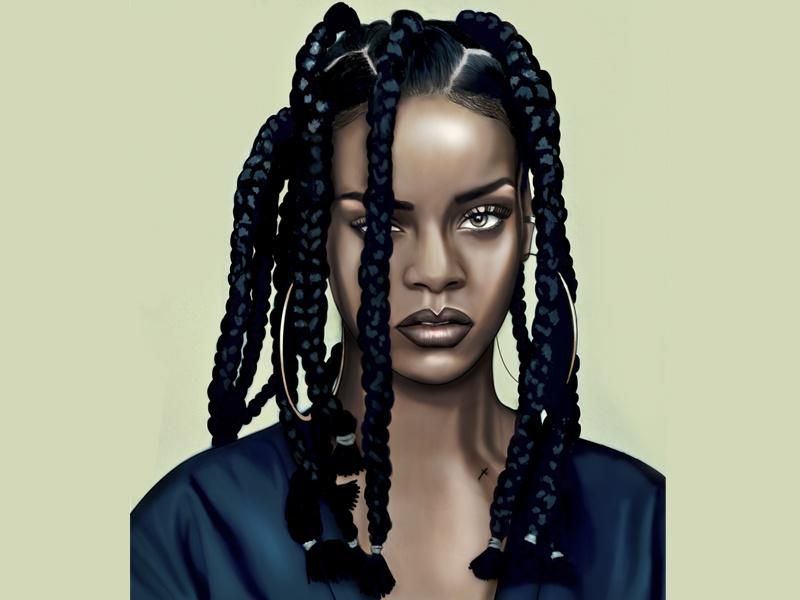 Rihanna ID magazine cover illustration illustration rihanna cover 90s nineties