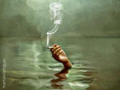The feels grunge mud artwork smoke girl illustration