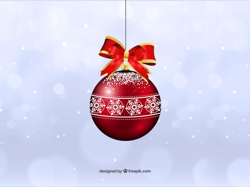 Vector Christmas Ball freepik holidays red free ball christmas vector