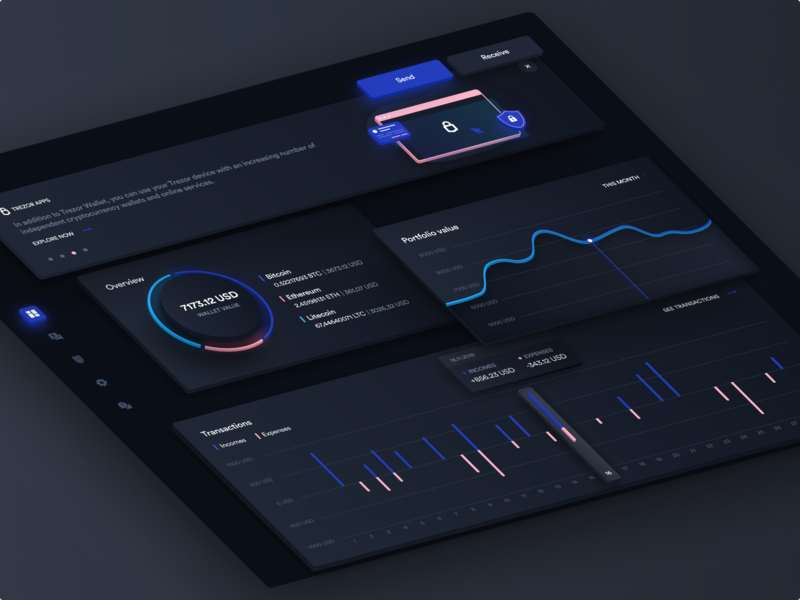 Trezor Dashboard Dark Mode 🌚