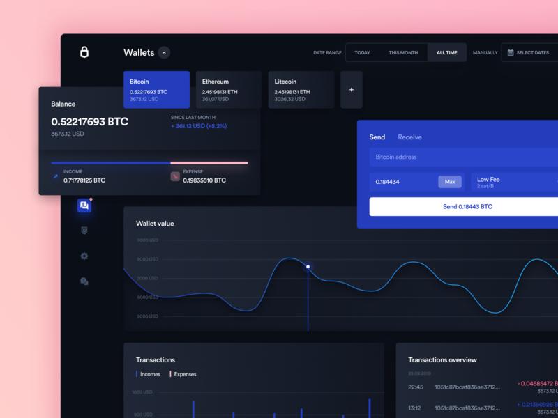 Trezor Dashboard Dark Mode 🌚 blockchain wallet trezor token portfolio finance exchange ethworks ethereum data dashboard crypto cryptocurrency blockachin bitcoins bitcoin