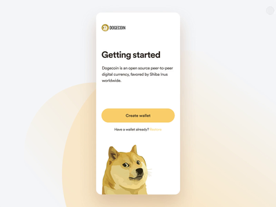 Dogecoin Mobile App bitcoin cryptocurrency crypto ethereum ethworks crypto exchange finance portfolio token doge dogecoin wallet crypto wallet blockchain dashboad