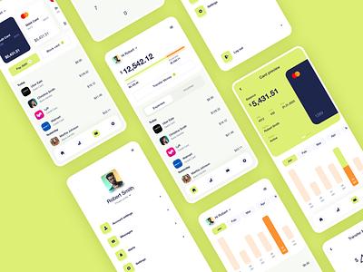 Finance mobile app money card analytics money management portfolio cogision dashboard banking wallet finance