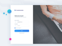 Sales Management Platform -  Login Page