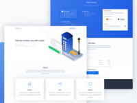 Web phone app - Landing page