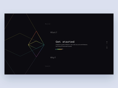 Ethereum website concept 💸 eth bitcoin design cryptocurrency crypto blockchain ethereum animation