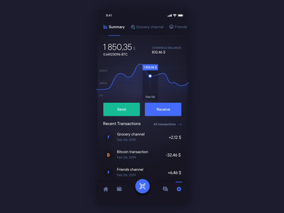 Bitcoin lightning wallet animation wallet dashboard exchange finance ethereum data crytpo cryptocurrency coin blockchain bitcoin