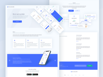 Lightning Wallet- Landing Page website landing landing page wallet finance exchange ethereum data ethworks dashboard cryptocurrency crypto currency crypto coin blockchain bitcoin