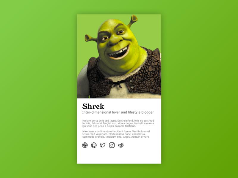 User Profile Card Concept vector design dailyui