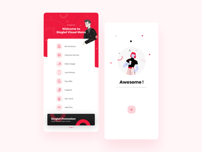 Visual Menu - Customer Care redesign customer experience customers customer service mobile design illustratoin ivr call visualmenu communication