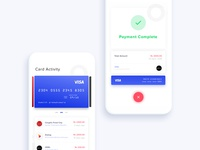 Card Activity & Payment Complete
