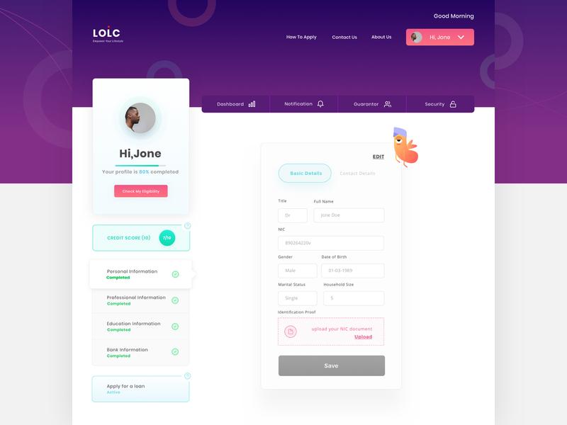 User Profile Console payment illustration design ux ui user interface design profile view vector web design user profile dashboard web application user profile